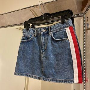 Zara TRF Denim Mini Skirt